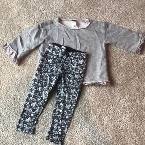 Like new Tea Collection 2T toddler girls outfit!